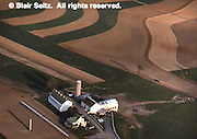 Lancaster Co. aerial photographs, farms with contour farming, Aerial Photograph Pennsylvania