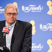 11 june 2009: Phil Jackson, coach of the Los Angeles Lakers, is seen during a press conference after game 4 of the 2009 NBA finals won 99-91 by the Los Angeles Lakers over the Orlando Magic at Amway Arena, in Orlando, Florida, USA.