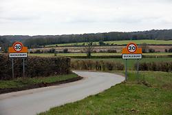 UK ENGLAND BERKSHIRE BUCKLEBURY 21MAR11 - Signpost an the entrance to Bucklebury village in Berkshire, England. Bucklebury is the home village of Kate Middleton, soon-to-be wife of Prince William...jre/Photo by Jiri Rezac..© Jiri Rezac 2011