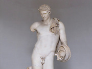 Italy, Rome, The Vatican Museum Statue of Hermes