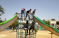 June 26, 2017 - Cairo, Cairo, Egypt - Egyptians celebrate at a park, in Cairo June 26, 2017, on the second day of Eid al-Fitr holiday which marks the end of the Muslim holy month of Ramadan  (Credit Image: © Amr Sayed/APA Images via ZUMA Wire)