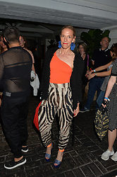 TIPHAINE DE LUSSY at the Warner Music Group & GQ Summer Drinks hosted in asociation with Quintessentially at Shoreditch House, Ebor Street, London on 6th July 2016.