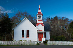 Exterior of Oysterville Church, Oysterville, Washington, US