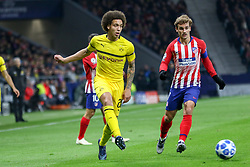 November 6, 2018 - Madrid, MADRID, SPAIN - Axel Witsel of Borusia and Griezmann of Atletico de Madrid during the UEFA Champions League football match between Atletico de Madrid and Borussia Dormund on November 06th, 2018 at Estadio Wanda Metropolitano in Madrid, Spain. (Credit Image: © AFP7 via ZUMA Wire)