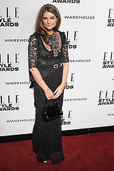 © Licensed to London News Pictures. 18/02/2014. London, UK. Natalie Massenet  arrives on the red carpet for the Elle Style Awards on the Embankment in central London. Photo credit : Andrea Baldo/LNP