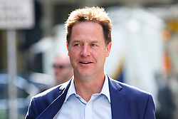 © Licensed to London News Pictures. 25/06/2015. London, UK. Former Liberal Democrat leader NICK CLEGG arriving at LBC radio studios in central London for his first major interview since the general election on Thursday, June 25, 2015. Photo credit: Tolga Akmen/LNP