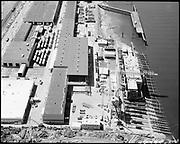"Ackroyd 18335-06 ""FMC. aerials of yard 1000'. May 29, 1973."" (Gunderson, vicinity of new crane."