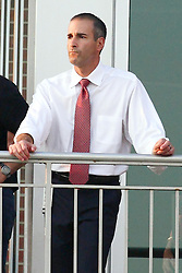 10 September 2011: Illinois State University Director of Athletics Gary Friedman during an NCAA football game between the Morehead State Eagles and the Illinois State Redbirds at Hancock Stadium in Normal Illinois.