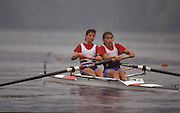 Lucerne, SWITZERLAND  GBR W2-.  Bow Fiona FRECKLETON and Miriam BATTEN. 1992 FISA World Cup Regatta, Lucerne. Lake Rotsee.  [Mandatory Credit: Peter Spurrier: Intersport Images] 1992 Lucerne International Regatta and World Cup, Switzerland