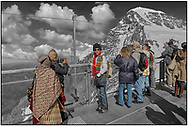 Day Tripper - Alpine Travels is a selective colour street photography series by photographer Paul Williams taken in 2008 taken at  showing people enjoying the high mountains of the Alps. .<br /> <br /> Visit our REPORTAGE & STREET PEOPLE PHOTO ART PRINT COLLECTIONS for more wall art photos to browse https://funkystock.photoshelter.com/gallery-collection/People-Photo-art-Prints-by-Photographer-Paul-Williams/C0000g1LA1LacMD8
