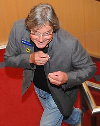 """07.09.2011, Hilton, Wien, AUT, Pressekonferenz OEFB, im Bild Dietmar """"Didi"""" Constantini auf dem Weg zur Pressekonferenz // during the OEFB Press Conference, at Hilton, Vienna, 2011-09-07, EXPA Pictures © 2011, PhotoCredit: EXPA/ M. Gruber"""