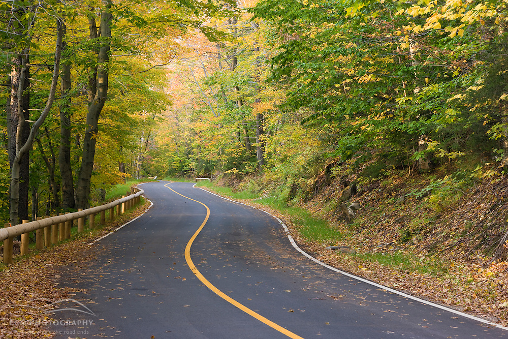 The Auto Road up Mount Greylock, highest point in Massachusetts. Mount Greylock State Reservation.  Fall.