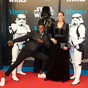 NLD/Amsterdam/20191218 - Premiere van Star Wars: The Rise of Skywalker, Remy Bonjasky en partner Renate