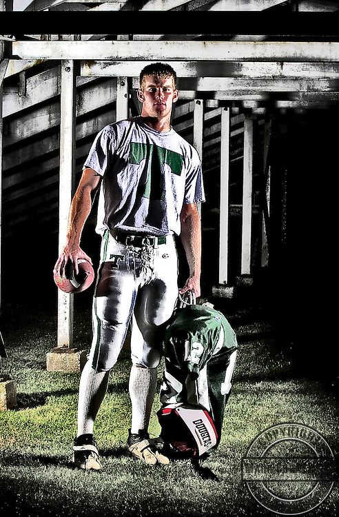 Trinity quarterback Brian Brohm  photographed on wednesday July 30, 2003 in  Louisville, Kentucky for highschool football preview cover.