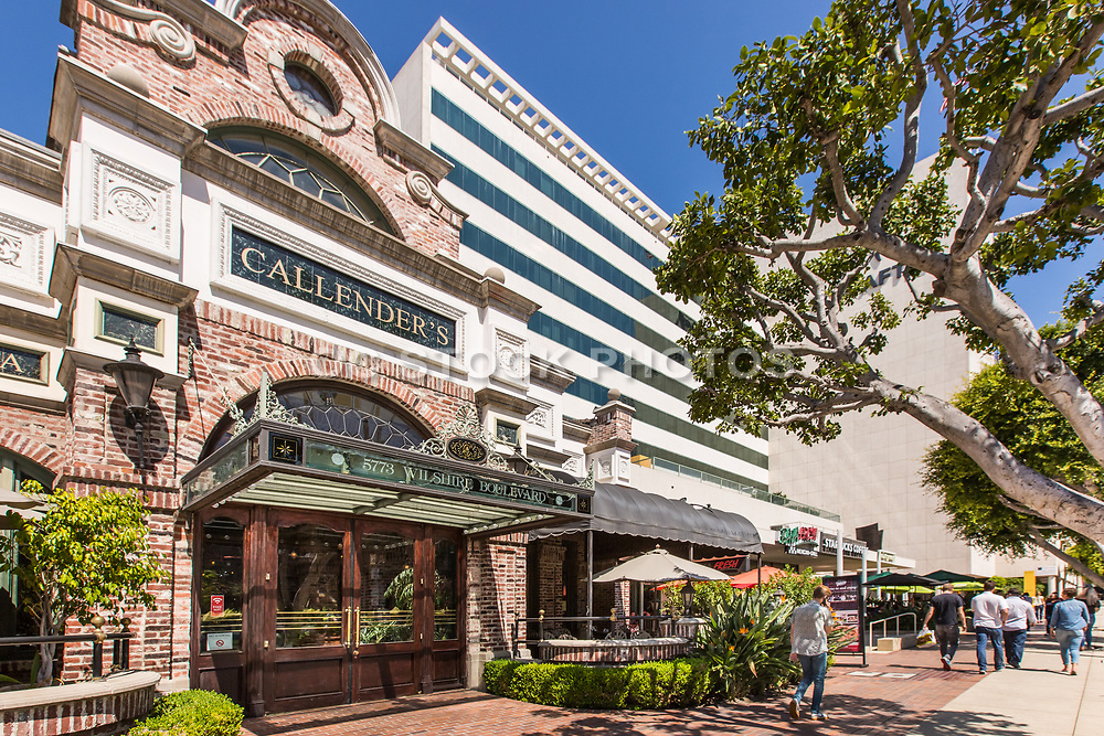Callender's Grill and SAG-AFTRA Building on Wilshire Blvd