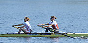 ]Hazewinkel, BELGIUM,  Women's Pair. GBR W2-. Bow [right] Olivia WHITLAM and Louisa REEVE in the opening strokes of the Sunday Morning Time Trial.  British Rowing Senior Trails, Bloso Rowing Centre. Sunday,  11/04/2010. [Mandatory Credit. Peter Spurrier/Intersport Images]