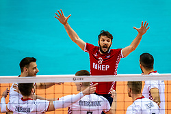 Sven Sarcevic of Croatia in action during the CEV Eurovolley 2021 Qualifiers between Croatia and Netherlands at Topsporthall Omnisport on May 16, 2021 in Apeldoorn, Netherlands