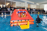 Robbie McArdle Galway lifeboat  and Patrick Oliver  Galway lifeboat  demonstrating during the  Skipper International Expo<br /> Photo:Andrew Downes