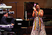 India.Arie and Herbie Hancock at Herbie Hancock - Seven Decades: The Birthday Celebration at Carnegie Hall. June 24, 2010