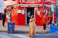 Maroc, Casablanca, laiterie avenue Mers Sultan // Morocco, Casablanca, Mers Sultan avenue, milk and juice shop