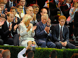 Prince William, Camilla Parker Bowles, Prince Charles and Prince Harry - Photo mandatory by-line: Joe Meredith/JMP - Mobile: 07966 386802 - 10/09/14 - The Invictus Opening Ceremony - London - Queen Elizabeth Olympic Park