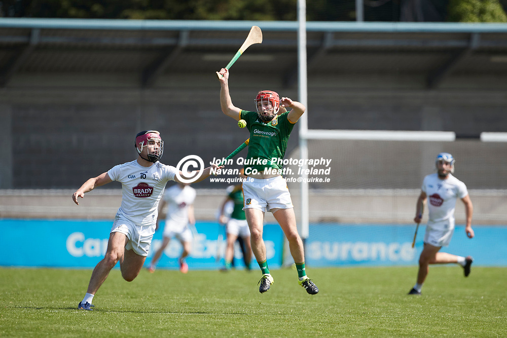 17-07-21, Joe McDonagh Cup Relegation play-off at Parnell Park.<br /> Meath v Kildare<br /> Adam Gannon (Meath) & Cathal Dowling (Kildare)<br /> Photo: David Mullen / www.quirke.ie ©John Quirke Photography, Proudstown Road Navan. Co. Meath. 046-9079044 / 087-2579454.<br /> ISO: 400; Shutter: 1/1600; Aperture: 5;