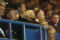 Photo. Jed Wee.<br /> Leeds United v Manchester United, Carling Cup, Elland Road, Leeds. 28/10/03.<br /> Leeds chairman Professor John McKenzie, who relinquished executive duties of the club today after Leeds announced record £50 million losses, watches the game at Elland Road in a pensive mood.