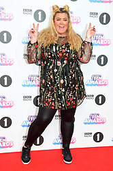 Gemma Collins attending the BBC Radio 1 Teen Wards, at Wembley Arena, London. Picture date: Sunday October 22nd, 2017. Photo credit should read: Matt Crossick/ EMPICS Entertainment.