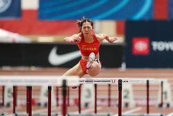 Don Kirby Invitational Indoor Track & Field<br /> Albuquerque, NM, Feb 14, 2020<br /> womens 60m hurdles heats, China