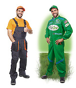 Left Stock Photography. Right: BioOne® Spokesman for print and website promotions of an Environmentally friendly drain and septic treatment. 1biotechnology.com