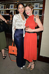 The UK Premier of Johnnie Walker Blue Label's 'Gentleman's Wager' - a short film starring Jude Law was held at The Bulgari Hotel & Residences, 171 Knightsbridge, London on 22nd July 2014.<br /> Picture Shows:-Left to right, YASMIN MILLS and CAMILLA RUTHERFORD.