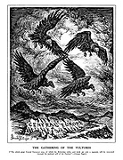 """The Gathering of the Vultures. [""""The whole great Central European area, of which the Bohemian valley and lands are only a segment, will be renovated through the political will of the Fuehrer."""" - German papaer.]"""