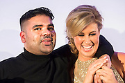 Naughty Boy and Julia Immonen, the charity organiser - UK charity, Sport for Freedom (SFF), marks Anti-Slavery Day 2015 by hosting a charity Gala Dinner, supported by Aston Martin, on Thursday 15th October at Stamford Bridge, home of Chelsea Football Club. This inaugural event brought together people from the world of sport, entertainment, media, and business to unite behind a promise to tackle the issue of modern day human trafficking and slavery.  <br /> Hosted by Sky presenters Sarah-Jane Mee and Jim White, the Sport for Freedom Gala Dinner includes guests such as jockey AP McCoy OBE; Denise Lewis, former British Olympic Gold Medal winner; BBC Strictly star, Brendan Cole; Al Bangura, former Watford FC player and Sport for Freedom Ambassador who was trafficked from Africa to the UK at the age of just 14yrs old; Made in Chelsea star, Ollie Proudlock; ITV weather presenter, Lucy Verasamy; Sky Sports F1 presenter and SFF Ambassador, Natalie Pinkham; Premier League footballers Ryan Bertrand of Southampton FC and Troy Deeney of Watford FC and champion boxer, Anthony Joshua; and The UK's first independent Anti Slavery Commissioner, Kevin Hyland OBE, who highlighted the issues of modern day slavery that face the UK and world today. <br /> The evening concluded with chart topping music from 'Naughty Boy'. <br /> Sport for Freedom are also joining forces with the Premier League Academies for an international  'Football for Freedom' tournament with their U16's players that will also involve educating those taking part about the issues surrounding modern day slavery. The final will take place at Liverpool FC's Academy on Anti-Slavery Day, 18th October.