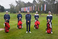 HILVERSUM -  TEAM NETHERLANDS / NEDERLANDELTK Golf  2020 The Dutch Golf Federation (NGF), The European Golf Federation (EGA) and the Hilversumsche Golf Club will organize Team European Championships for men. vlnr   Bob Geurts,  Nordin van Tilburg , Kiet van der Weele , Jerry Ji,  COPYRIGHT KOEN SUYK