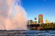 Horseshoe Fall and city skyline, Niagara Falls, Ontario, Canada.