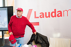 28.03.2018, Haas Haus, Wien, AUT, Laudamotion, Pressegespräch mit Niki Lauda, im Bild Niki Lauda // Niki Lauda during media conference of Laudamotion in Vienna, Austria on 2018/03/28. EXPA Pictures © 2018, PhotoCredit: EXPA/ Michael Gruber