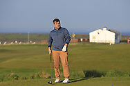 Gary Collins on the 1st tee during Round 4 of The West of Ireland Open Championship in Co. Sligo Golf Club, Rosses Point, Sligo on Sunday 7th April 2019.<br /> Picture:  Thos Caffrey / www.golffile.ie