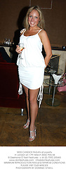 MISS CANDICE FAGAN at a party in London on 17th March 2004.PSN 44