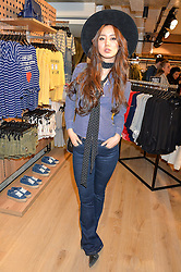 BETTY BACHZ at a party to relaunch the Bershka store at 221-223 Oxford Street, London on 17th March 2016.