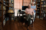Ron Walker and his wife, Sandy, pose for a photo at their home in Minneral Wells, Texas on June 9, 2015.  (Cooper Neill for The New York Times)