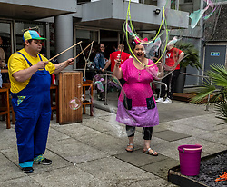 Pictured: Poppy Bubbles and her nephew Bert<br /> <br /> Sweet Venues put on some tasters of their acts in Edinburgh for the festival fringe. Artistic director JD Henshaw has returned fo his 20th year and is an enthusisatic as ever.