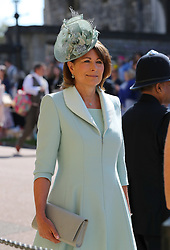Carol Middleton arrives at St George's Chapel at Windsor Castle for the wedding of Meghan Markle and Prince Harry.