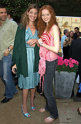 Left to right, MICHELE BAROUH and Model LILY COLE at Michele Watches Kaleidoscope Summer Garden Party held at Home House, Portman Square, London on 15th June 2005.<br />
