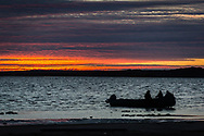 Hunting and fishing on a boat is part of the inuk cultural heritage.
