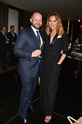 JOSHUA GARDNER and ALEX MEYERS at the Launch Of Alain Ducasse's Rivea Restaurant At The Bulgari Hotel, 171 Knightsbridge, London on 8th May 2014.