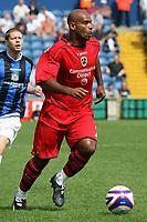 Photo: Paul Greenwood.<br />Stockport County v Cardiff City. Coca Cola Championship. Pre Season Friendly. 28/07/2007.<br />Cardiff's Trevor Sinclair