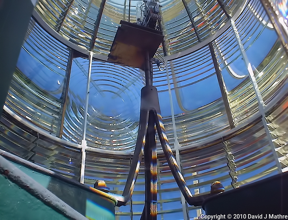 Amelia Island Lighthouse Light and Fresnel Lens. Image taken with a Polariod PDC700 digital camera.