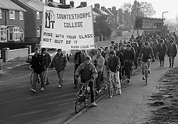 National Union of Teachers strikers & students from Countesthorpe College, Leicestershire November 1985