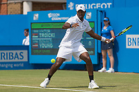 Tennis - 2017 Aegon Championships [Queen's Club Championship] - Day Three, Wednesday<br /> <br /> Men's Singles, Round of 16 -Viktor TROICKI (SRB) Vs Donald YOUNG (USA)<br /> <br /> Donald Young (USA) prepares to strike a return shot at Queens Club <br /> <br /> <br /> <br /> COLORSPORT/DANIEL BEARHAM