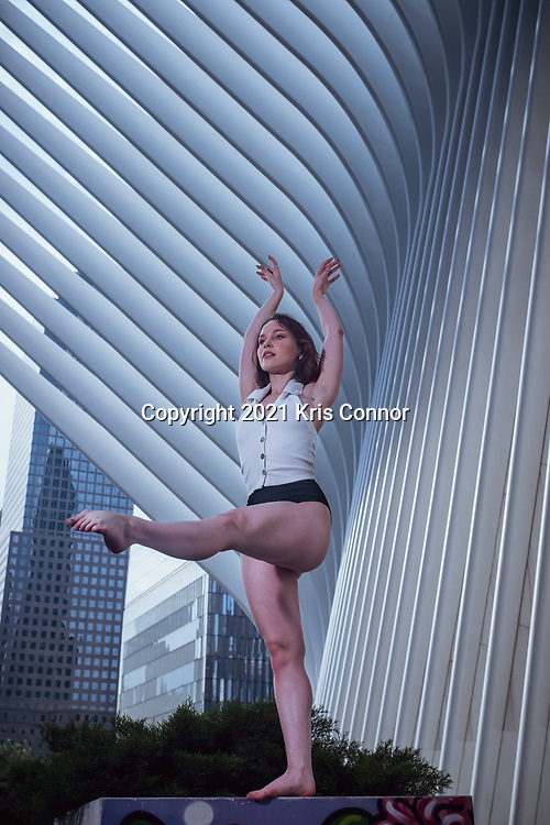 A portrait of a ballet dancer at The Oculus in New York City on July 11, 2021.